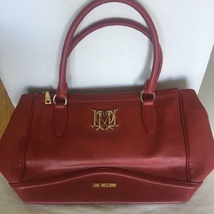 RARE Red Moschino Bag